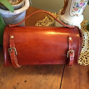 Hand Made Leather Barrel Purse